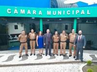 Câmara de Vereadores recebe novo Comandante da Polícia Militar de Almirante Tamandaré